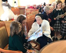 Lower School Visits Camilla Hall Residents