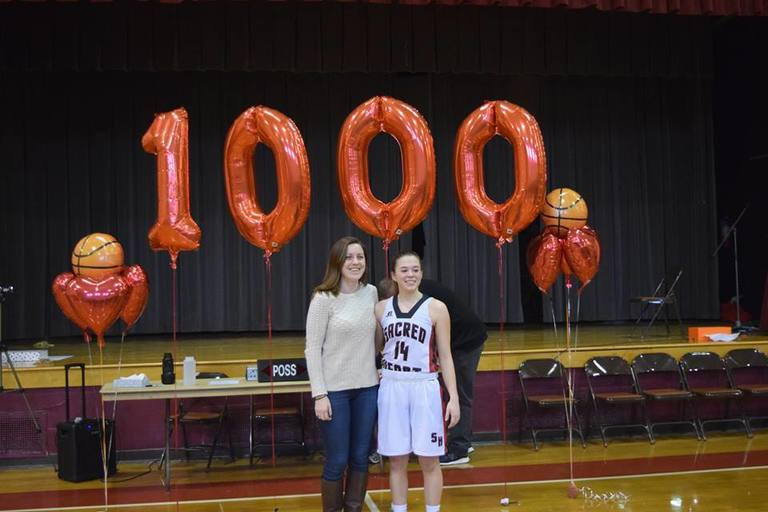1000 Points for Eileen Piombino '18