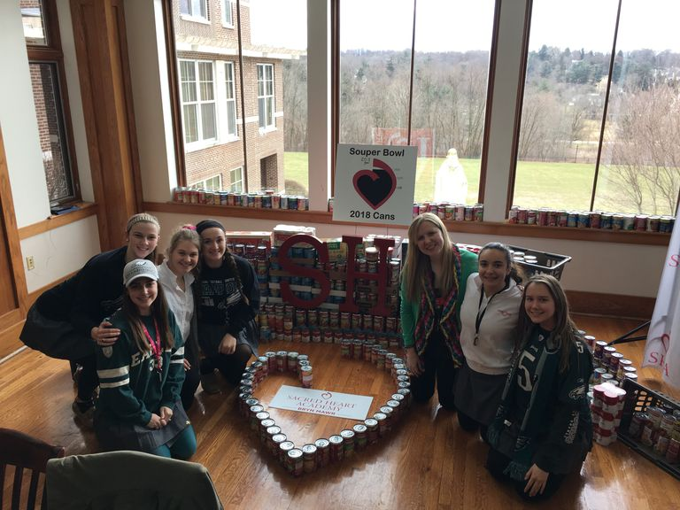 The Sacred Heart Community Surpasses Its Goal For The Souper Bowl Of Caring!