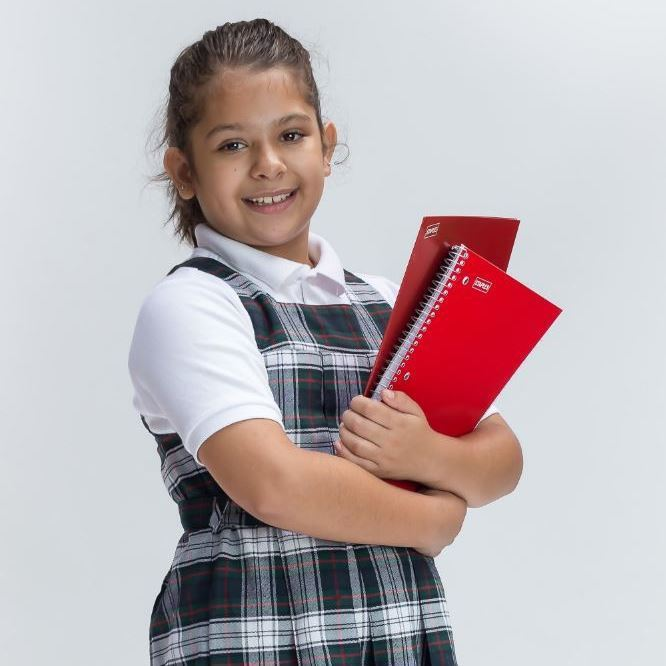 Girl with Red Books